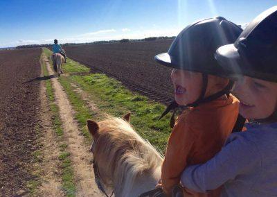 Ponyreiten, auf dem Weg zur Ostsee!