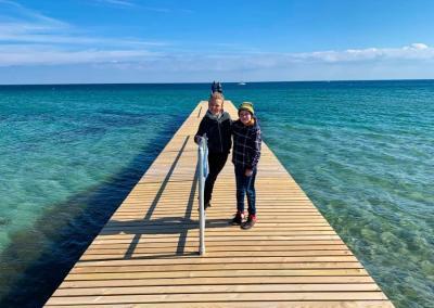 Steg Ostsee Fehmarn